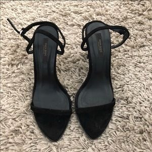 Black Zara Heel Sandals